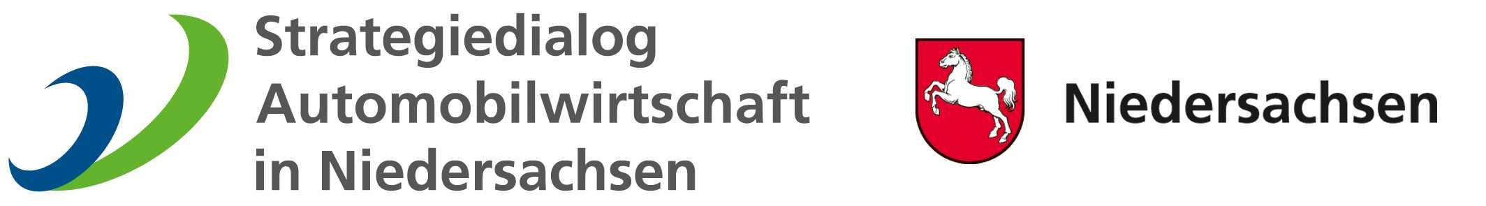 Logo Strategiedialog und Wappen Niedersachsen