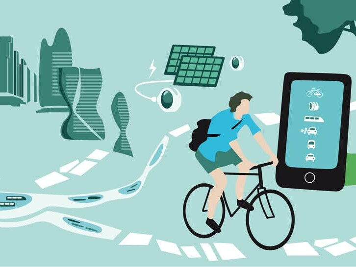Grafik mit der Darstellung der Themen zum Wettbewerb mobilwandel2035