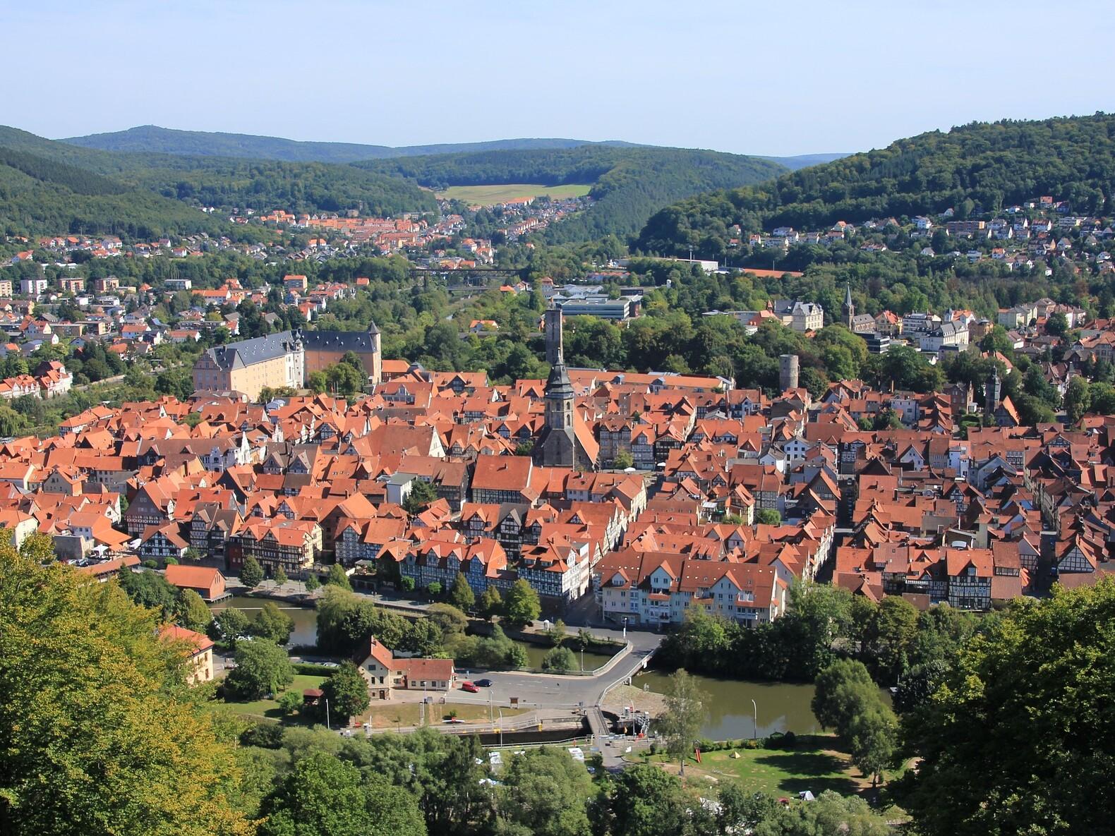 Luftbild von Hannoversch Münden in Niedersachsen.
