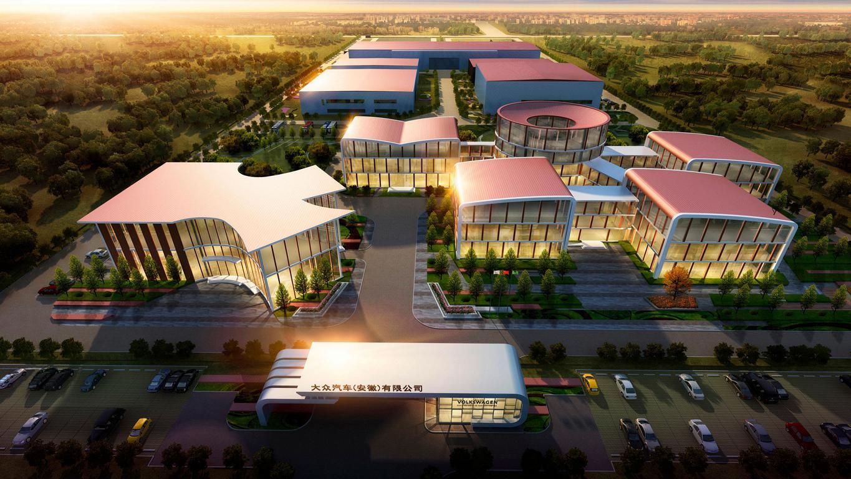 Animation der Volkswagenfabrik in China