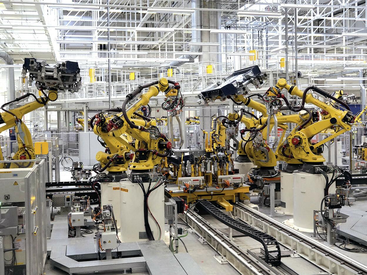 Produktionshalle im Volkswagen-Werk in Emden.