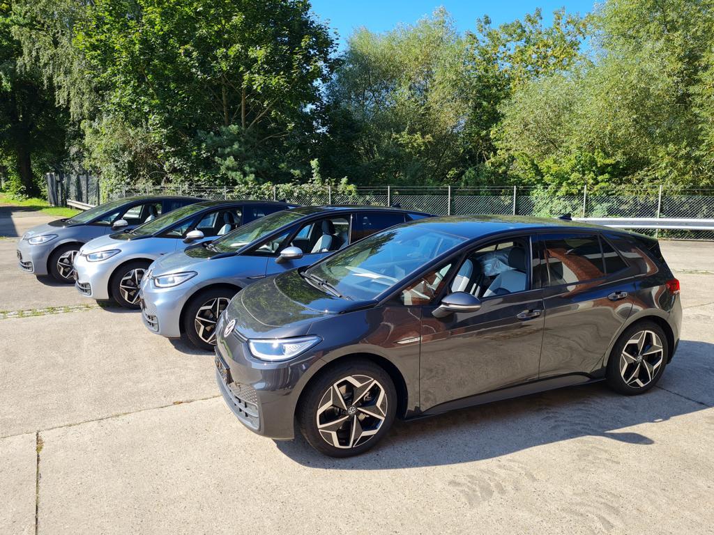 Vier neue ID3 von Volkswagen für die Polizei Lüneburg.