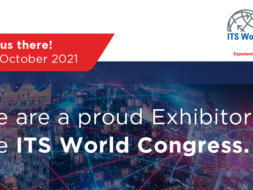 Banner und Logo des ITS Weltkongress 2021.